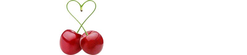 We Love Cherry Logo-White
